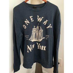 H&M Men's Crewneck Graphic Sweater (large)
